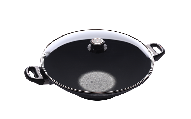瑞士原裝 Swiss Diamond 瑞仕鑽石鍋 36CM雙耳中華炒鍋(含鍋蓋)-SD36WK