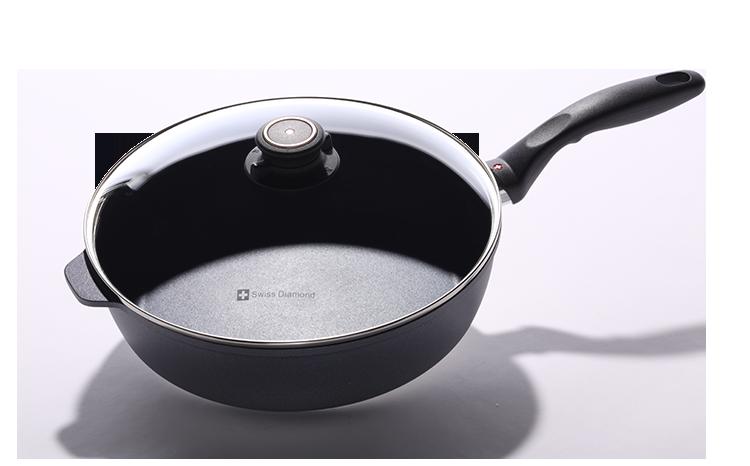 瑞士原裝 Swiss Diamond 瑞仕鑽石鍋 28CM圓形深煎鍋(含鍋蓋)-SD28ISTP