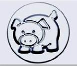 小蛋糕模-豬(陽極) 71*52*38mm
