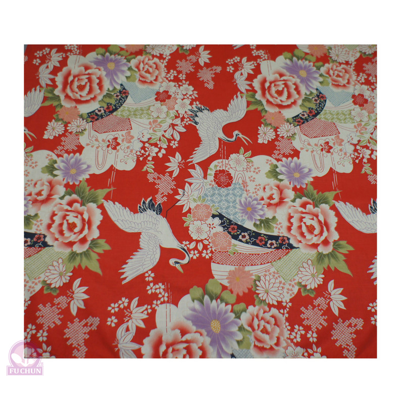 A364-2 紅舞鶴四角頭巾